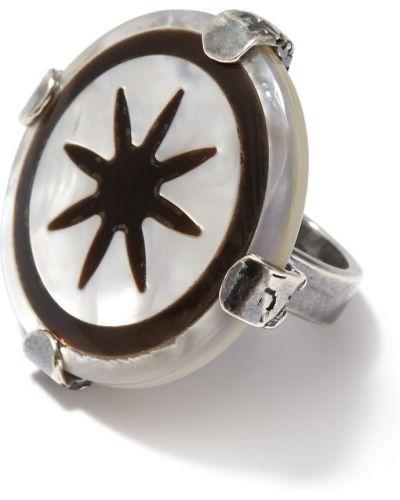 Кольцо из серебра круглый Gem Kingdom