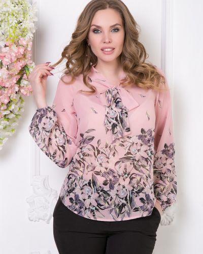 Блузка с бантом с цветочным принтом Diolche