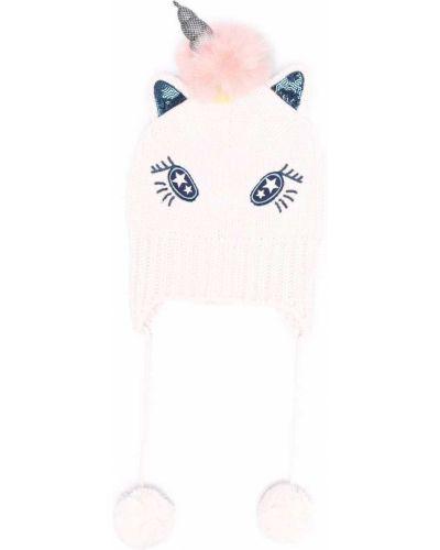 Czapka beanie - różowa Billieblush