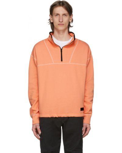 Sweter z kołnierzem pomarańczowy Rag & Bone