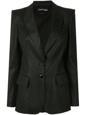 Хлопковый черный пиджак с карманами Tom Ford