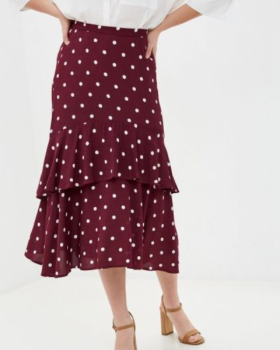 Красная юбка свободного кроя Marks & Spencer
