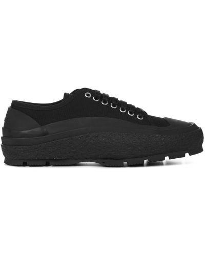 Czarne sneakersy Jil Sander