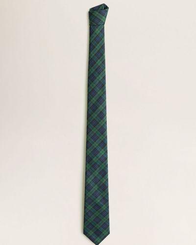 Krawat z wzorem zielony Mango Man