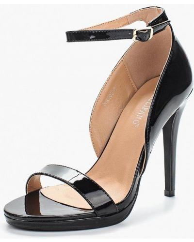 Черные туфли с застежкой на лодыжке Tulipano