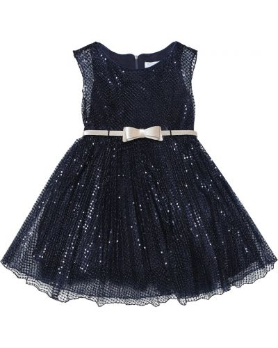 Платье с пайетками синее Monnalisa