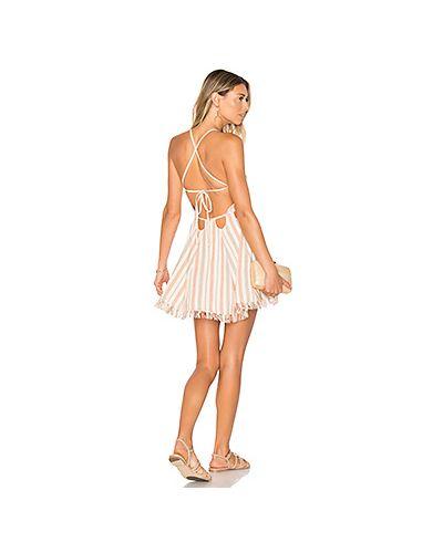 Платье с бахромой на бретелях Tularosa