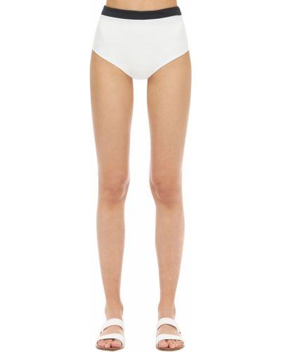 Biały bikini z wysokim stanem bezszwowy Aexae