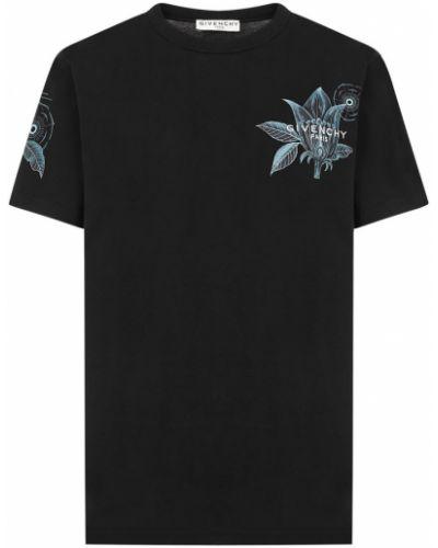 Podkoszulka krótki rękaw - czarna Givenchy