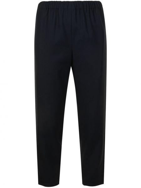 Зауженные шерстяные черные укороченные брюки Comme Des Garçons Comme Des Garçons