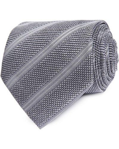 Галстук шелковый светло-серый Tom Ford