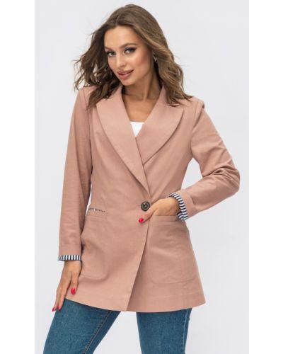 Льняной пиджак - розовый Dressa