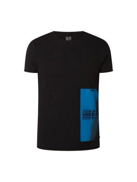 T-shirt z printem - czarna Q/s Designed By