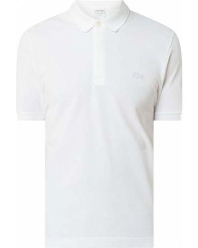 Biały t-shirt bawełniany Lacoste