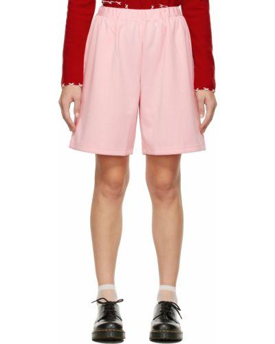 Розовые трикотажные шорты Comme Des Garçons Girl