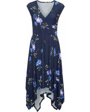 Платье миди с запахом на резинке Bonprix