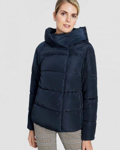 Теплая синяя зимняя куртка O'stin