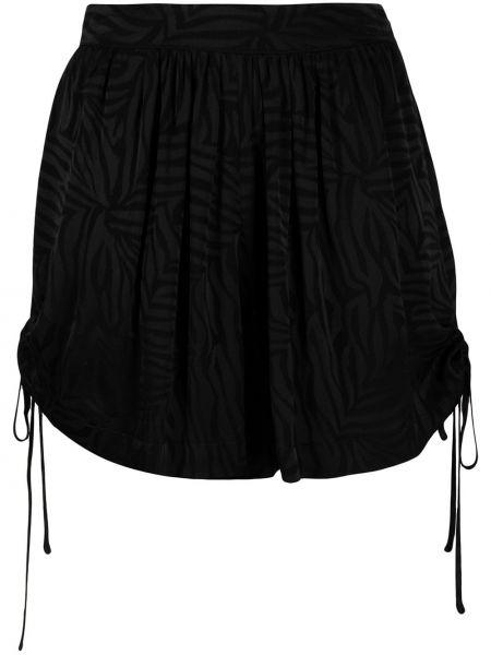 С кулиской черные шорты из вискозы Federica Tosi