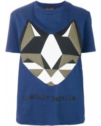 Синяя футболка хлопковая Frankie Morello