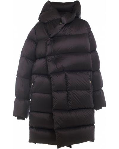 Czarny płaszcz puchowy Rick Owens