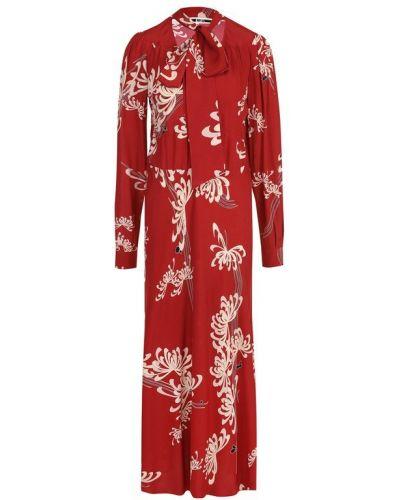 Платье макси с цветочным принтом на пуговицах Mcq
