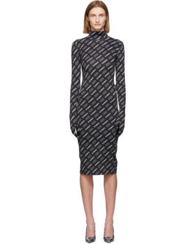 Платье макси на молнии с отложным воротником Vetements