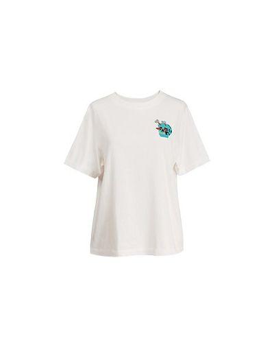 Хлопковая белая футболка Essentiel