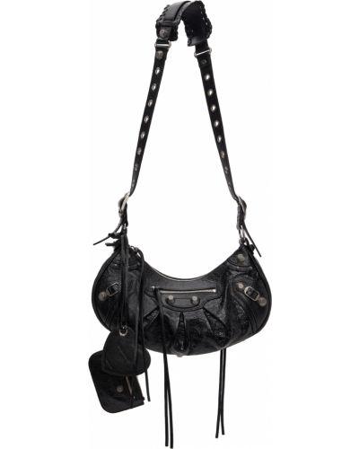 Czarna torebka srebrna Balenciaga