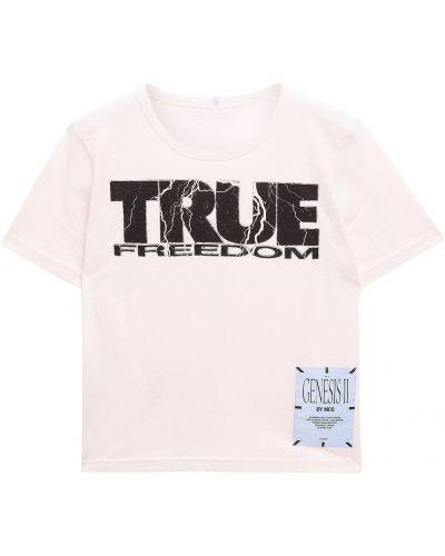 Różowa t-shirt bawełniana Mcq Alexander Mcqueen