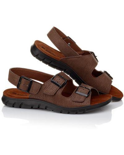 Темно-коричневые кожаные сандалии Inblu