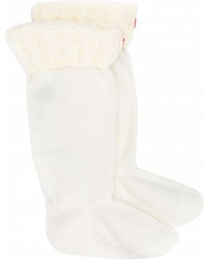 Акриловые вязаные белые носки Hunter