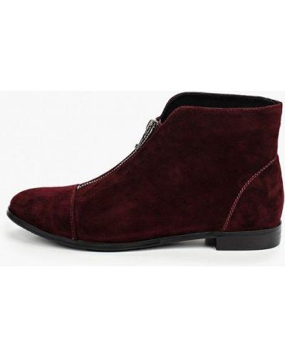 Велюровые красные ботинки El'rosso