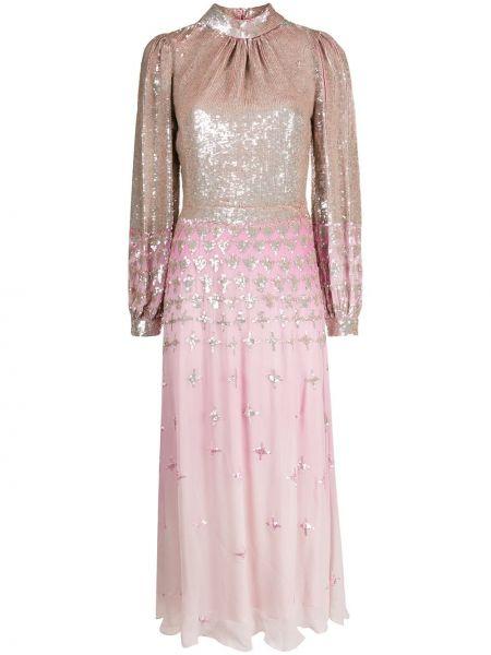 Платье розовое с пайетками Temperley London