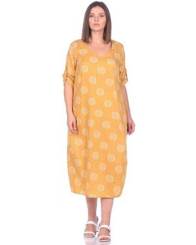 Свободное с рукавами платье бохо Blagof