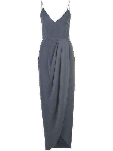 Тонкое серое платье с запахом с декольте Shona Joy