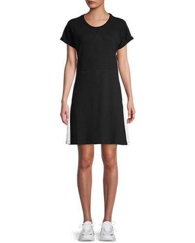 Черное платье мини с карманами с рукавом реглан Nanette Lepore