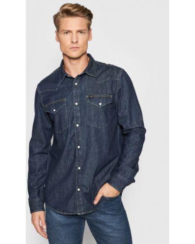 Koszula jeansowa - granatowa Lee