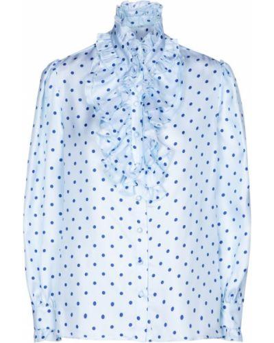 Niebieska bluzka z jedwabiu vintage Rodarte
