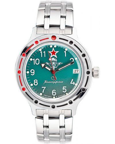 Часы механические водонепроницаемые зеленый Vostok