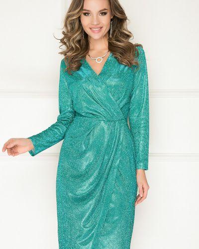 Нарядное с рукавами трикотажное платье макси Bellovera