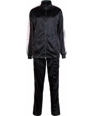 Черный спортивный костюм с поясом на молнии Forte Couture