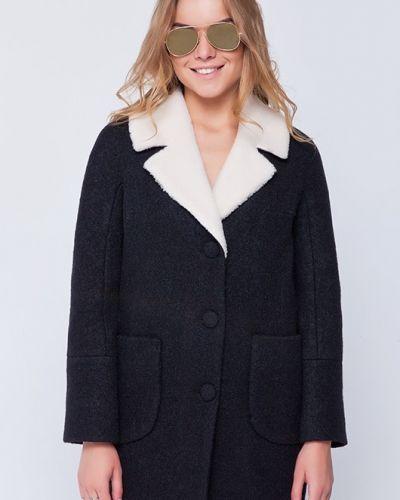 Пальто оверсайз - синее Emass