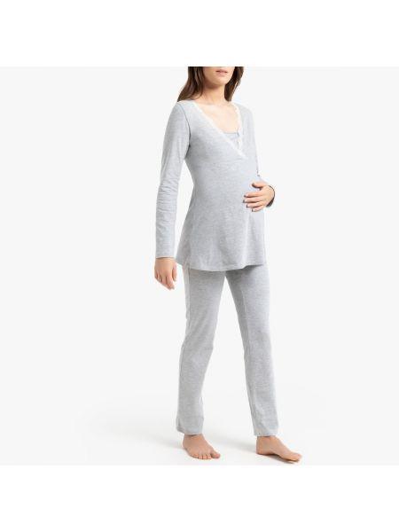 Пижама с брюками пижамный из вискозы La Redoute