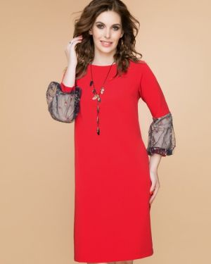 Вечернее платье деловое коралловый Belluche