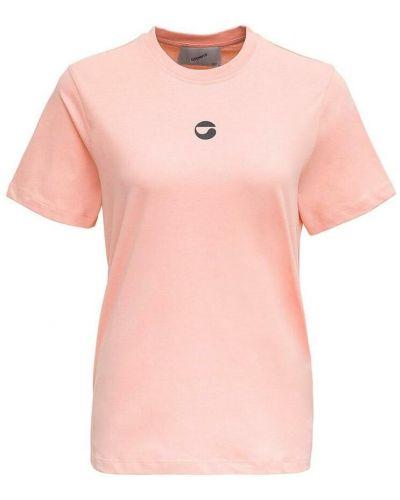 Różowa t-shirt z printem Coperni