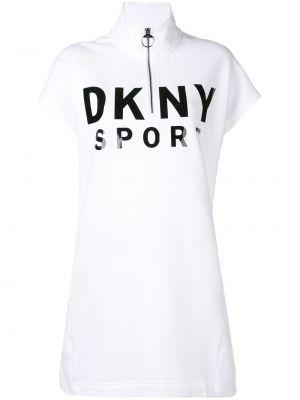 Платье мини короткое - белое Dkny