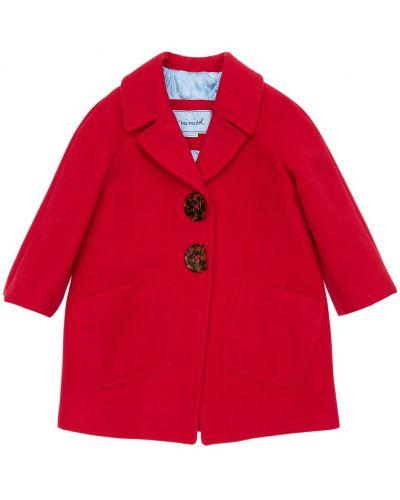 Красное стеганое пальто с лацканами Mi.mi.sol.