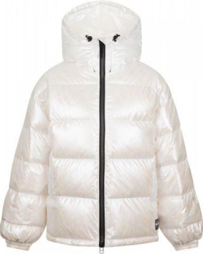 Белая свободная куртка свободного кроя с перьями Termit