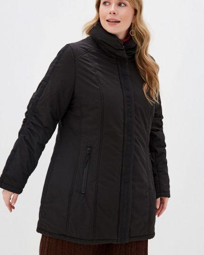 Утепленная куртка демисезонная черная Ulla Popken