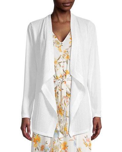 Текстильная белая длинная куртка с длинными рукавами Calvin Klein
